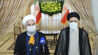 حسن روحانی پس از پیروزی ابراهیم رئیس در انتخابات به دیدار او رفت