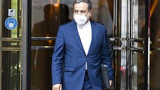 Iranian deputy foreign minister Abbas Araghchi leaves the Grand Hotel in Vienna last Saturday