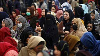 تجمع زنان کابل در روز جهانی زن