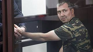 Alexander Popov appears in court in the city of Gorodets, charged with the murder of student Catherine Serou