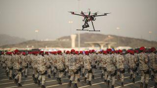 خلال استعراض عسكري للقوات السعودية (أرشيف)