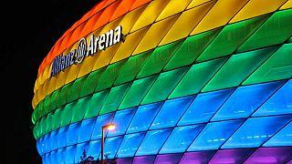 Szivárványszínben a müncheni aréna 2016-ban