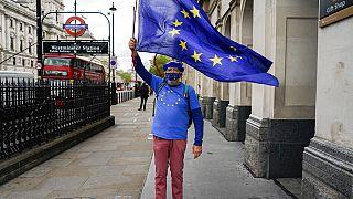 Manifestante antibrexit en el Reino Unido