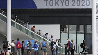 2020 Tokyo Olimpiyat ve Paralimpiyat Köyü'nde basın mensuplarına tur düzenlendi