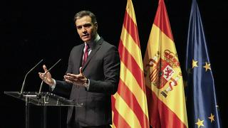 Una imagen de Pedro Sánchez durante el anuncio el 21 de junio de 2021.