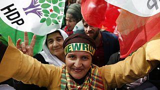 Sostenitori del Partito turco dei popoli, HDP