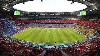 Allianz Arena in München, wo an diesem Mittwoch die deutsche Nationalmannschaft gegen Ungarn spielen wird.