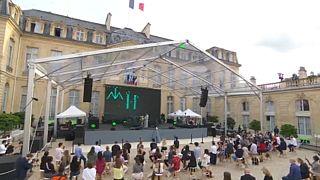French Elysée Presidential Palace hosts musicians for annual  'Fête de la Musique'