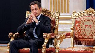 In this Thursday, May, 24, 2007 file picture, French President Nicolas Sarkozy sits during an official and traditional ceremony in Paris.