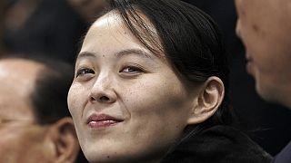 Kim Yo Jong, die Schwester des nordkoreanischen Machthabers Kim Jong Un, bei einem Eishockeyspiel während der Olympischen Winterspiele in Gangneung, Südkorea, 10.02.2018