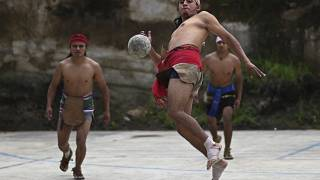 On your hip!: Maya peoples hope to strengthen identity with ancient ball game