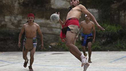 Maya peoples hope to strengthen identity with ancient ball game