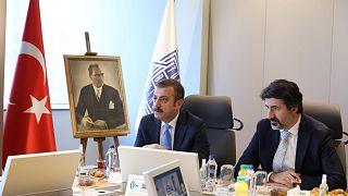 Türkiye Cumhuriyet Merkez Bankası Başkanı Kavcıoğlu'nun TBB ziyareti