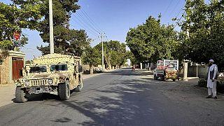 Kunduz eyaletinde Afgan ordusuna ait bir askeri araç