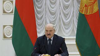 A belarusz elnök a Független Államok Közösségét alkotó szovjet utódállamok kormányfőihez szól Minszkben
