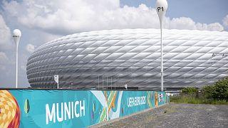 A müncheni Allianz stadion: itt játszik Németország ellen a magyar válogatott az Eb F csoportjában