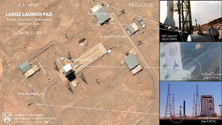 """صور من القمر الصناعي لشركة """"ماكسار تيكنولوجي"""" يظهر تحضيرات عملية إطلاق الصاروخ في إيران"""