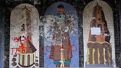 Mosaics across Ukraine have been badly vandalised