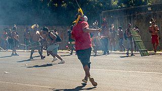 Indigene Proteste gegen umstrittenes Land-Gesetz in Brasilien