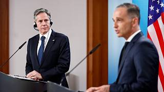 ABD Dışişleri Bakanı Antony Blinken, Libya Konulu İkinci Berlin Konferansı'na katılmak üzere geldiği Almanya'da, Almanya Dışişleri Bakanı Heiko Maas ile görüştü