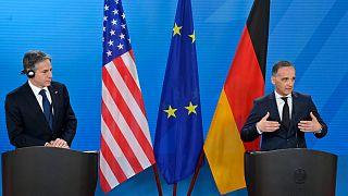 وزير الخارجية الألماني هايكو ماس ونظيره الأمريكي بلينكن
