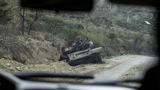 دبابة مدمرة في إقليم تيغراي