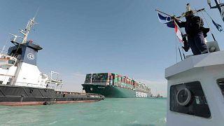 السفينة إيفر غرين في قناة السويس
