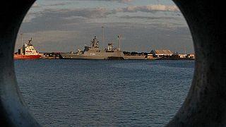 Die britische HMS Defender im Hafen von Limassol auf Zypern, 26.11.2014