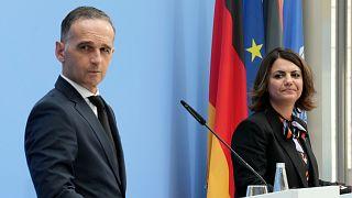 وزيرة الخارجية الليبية نجلاء المنقوش ونظيرها الألماني هايكو ماس