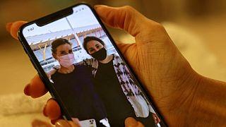تصویری از لطیفه و دوستش تیلور بعد از فرار از امارات