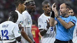 Portugália - Franciaország mérkőzés a Puskás Arénában 2021. június 23-án.