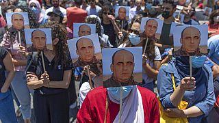 Manifestation à Ramallah le 24 juin, après la mort du militant Nizar Banat.