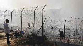 کمپ مهاجران در یونان