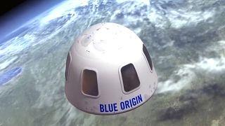 """مركبة """"نيو شيبرد"""" الفضائية التي صنعتها شركته """"بلو أوريجين"""""""