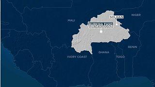 Burkina Faso haritası