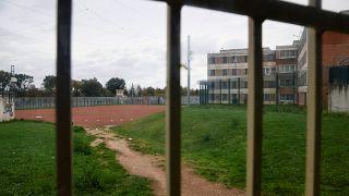 تصویری از حیاط یک زندان در فرانسه
