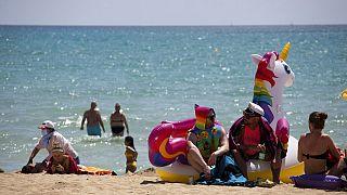Am Strand von Mallorca im Juni 2021
