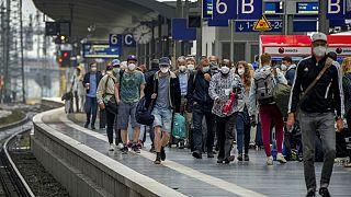 Am Hauptbahnhof in Frankfurt