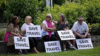 Διαμαρτυρία έξω από το βρετανικό κοινοβούλιο