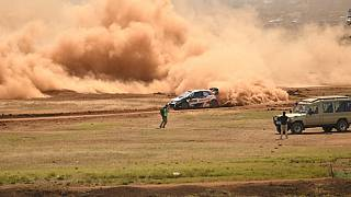 Ogier, fastest in the opening stage of the Safari Rally Kenya