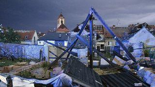 Tornádó pusztította település Dél-Morvaországban