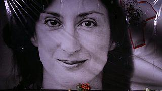 Πορτρέτο της δολοφονηθείσας Μαλτέζας δημοσιογράφου Δάφνης Γκαρουάνα Γκαλίζια.