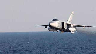جنگنده سوخو ۲۴ روسیه در دریای سیاه (عکس تزئینی است)