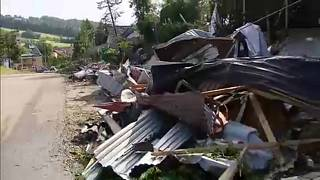 Damages in Librantowa, near Nowy Sacz, Malopolska Province