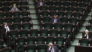 The conservatives now have 229 members in the 460-seat Polish Sejm.
