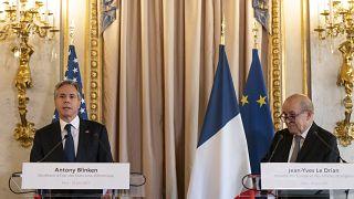 وزرای خارجه فرانسه و آمریکا در پاریس