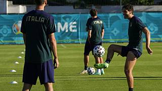 Сборная Италии по футболу тренируется в преддверии матча 1/8 ЧЕ-2020