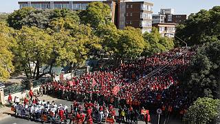 Thousands march to demand faster vaccine rollout in South Africa