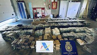 Cocaína que había sido transportada en piñas huecas desde Costa Rica a España en una fotografía de archivo (mayo de 2021)