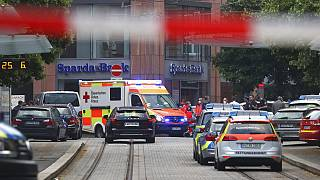 Zona en la que se produjo el ataque con cuchillo en el centro de Wurzburgo, Alemania